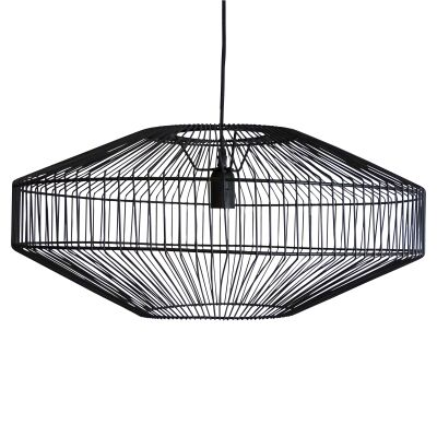 Marlo Metal Wire Pendant Light, Black