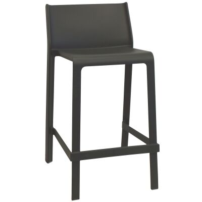 Trill Italian Made Commercial Grade Indoor / Outdoor Counter Stool, Anthracite