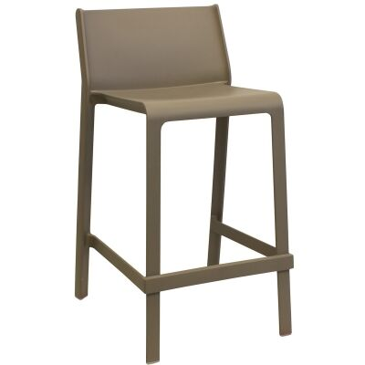 Trill Italian Made Commercial Grade Indoor / Outdoor Counter Stool, Taupe