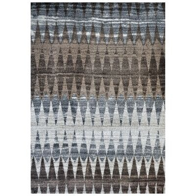 Studio Graham Turkish Made Modern Rug, 170x120cm, Brown / Blue / Ivory