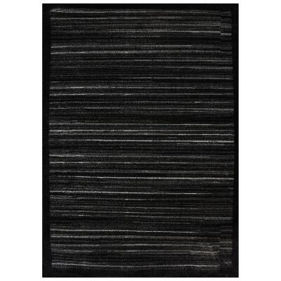Studio Elvis Turkish Made Modern Rug, 170x120cm, Black