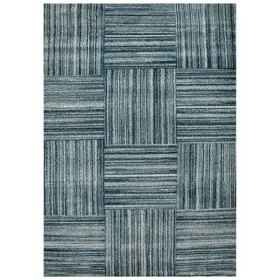 Studio Hassan Turkish Made Modern Rug, 330x240cm, Blue / Teal
