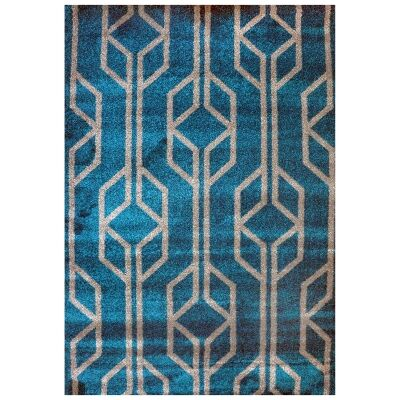 Studio Maxence Turkish Made Modern Rug, 150x80cm, Teal