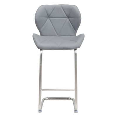 Kendrick Faux Leather Counter Stool, Grey