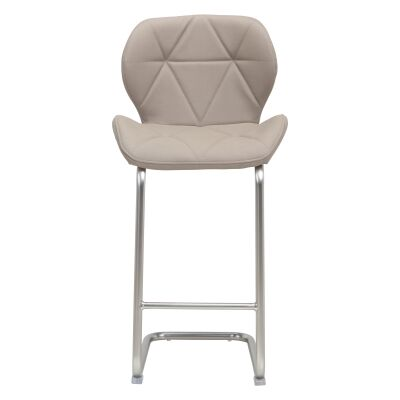 Kendrick Faux Leather Counter Stool, Cappuccino