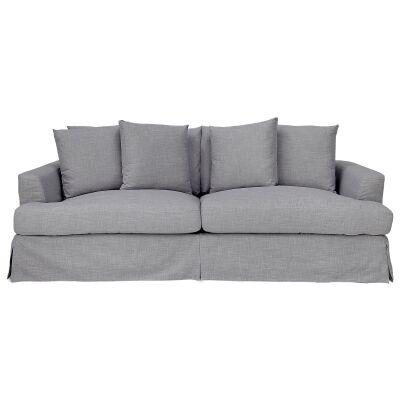 Kentlyn Fabric Slipcovered Sofa, 4 Seater, Glacier
