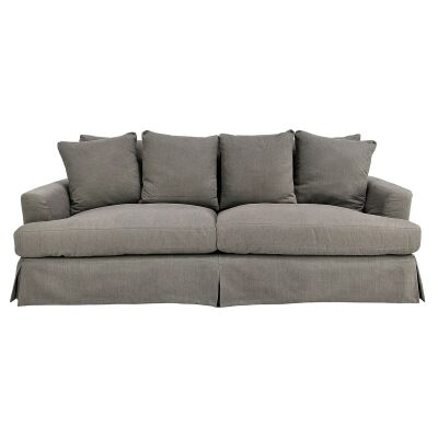 Kentlyn Fabric Slipcovered Sofa, 4 Seater, Slate