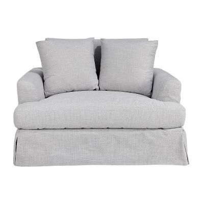 Kentlyn Fabric Slipcovered Sofa, 1.5 Seater, Glacier