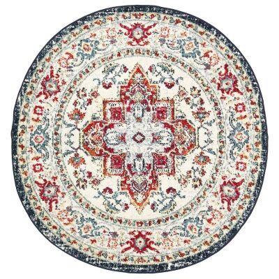 Symphony Elixir Oriental Round Rug, 200cm, Multi