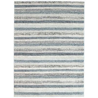 Symphony Scandi Modern Rug, 380x280cm, Blue