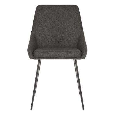 Shogun Commercial Grade Stain Resistant Waterproof Fabric Dining Chair, Black