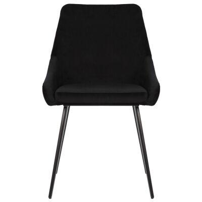 Shogun Commercial Grade Velvet Fabric Dining Chair, Black