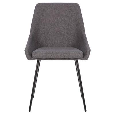 Shogun Commercial Grade Stain Resistant Waterproof Fabric Dining Chair, Dark Grey