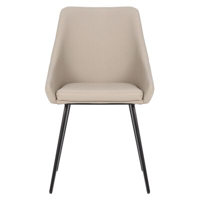 Shogun Commercial Grade Faux Leather Dining Chair, Light Grey