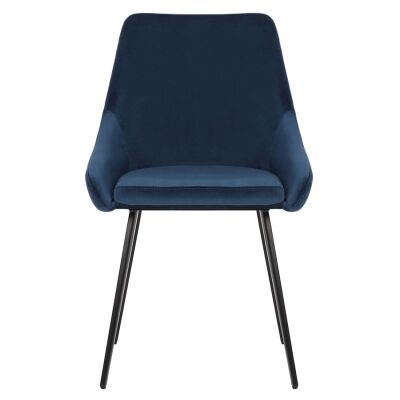 Shogun Commercial Grade Velvet Fabric Dining Chair, Navy