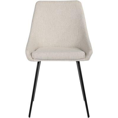 Shogun Commercial Grade Fabric Dining Chair, Sand