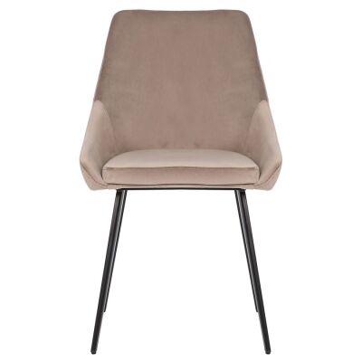 Shogun Commercial Grade Velvet Fabric Dining Chair, Taupe