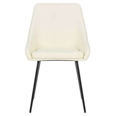 Shogun Commercial Grade Faux Leather Dining Chair, White