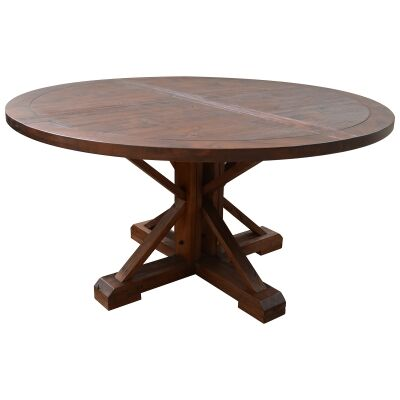 Sefton Mountain Ash Timber Round Dining Table, 150cm