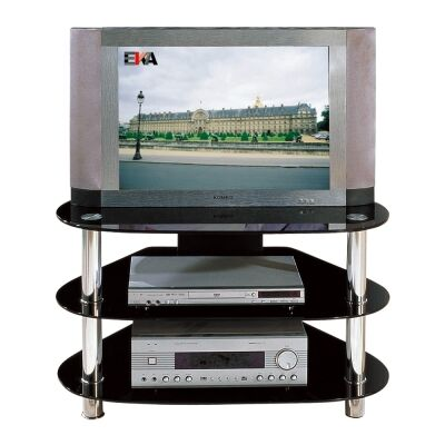 Mangrove Glass & Metal Corner TV Stand, 85cm