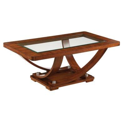 Pavilion Okoume Timber Coffee Table, 137cm