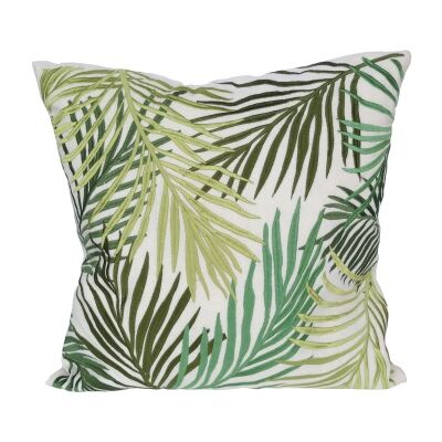 Green Hues Fern Embroidered Scatter Cushion