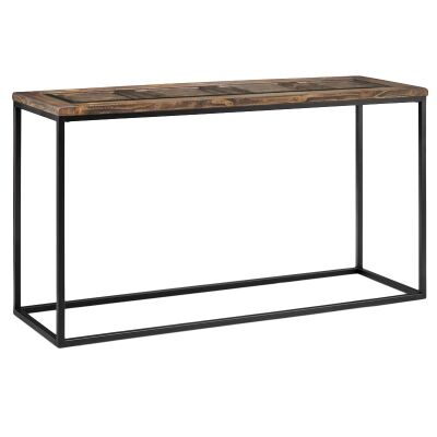 Rochester Timber & Metal Sofa Table, 127cm