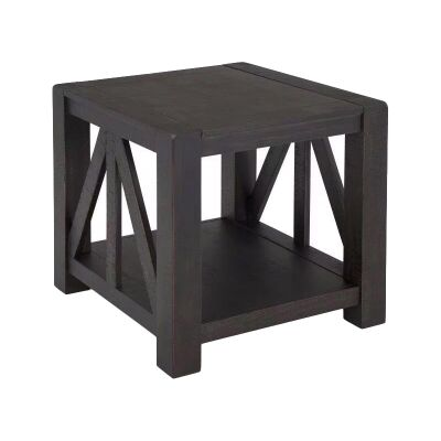 Griffith Pine Timber Side Table, Ebony