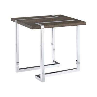 Kieran Wood & Metal Side Table