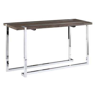 Kieran Wood & Metal Sofa Table, 132cm