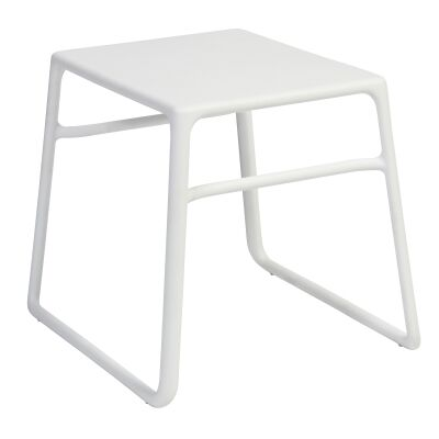 Pop Italian Made Commercial Grade Outdoor Side Table, White