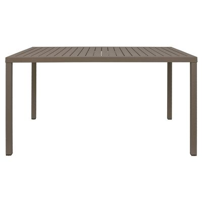 Cube Italian Made Commercial Grade Indoor / Outdoor Dining Table, 140cm, Taupe