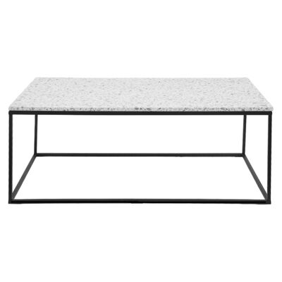 Lafayette Terrazzo & Metal Coffee Table, 120cm