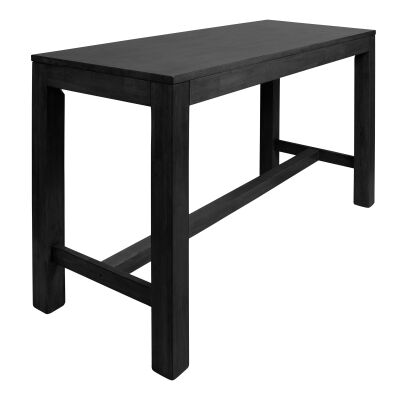 Chunk Commercial Grade Rubberwood Bar Table, 180cm, Black