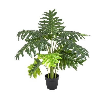 Potted Artificial Split Leaf Philodendron Plant, 110cm