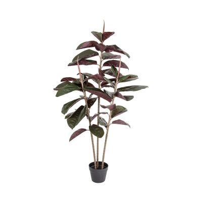 Real Touch Artificial Rubber Tree in Pot, 145cm