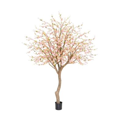 Potted Artificial Cherry Blossom Tree, 240cm