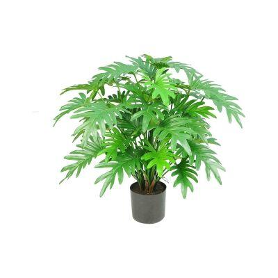 Potted Artificial Split Leaf Philodendron Plant, 75cm