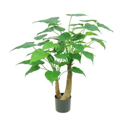 Potted Artificial Alocasia Cucullata Tree, 95cm