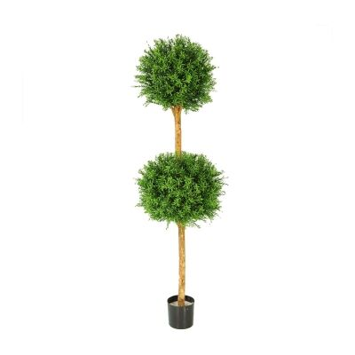 Potted Artificial Rosemary Double Ball Topiary, 150cm