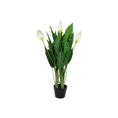 Potted Artificial Peace Lily Flower, 100cm