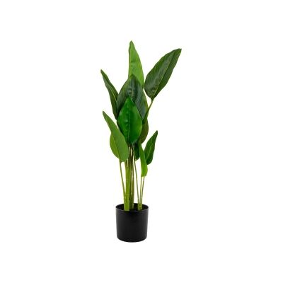 Potted Artificial Strelitzia Leaf, 78cm