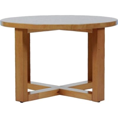 Chunk Commercial Grade Rubberwood Coffee Table, 70cm, Light Oak
