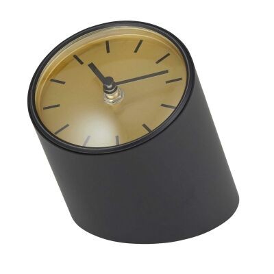Onyx Metal Mantle Clock