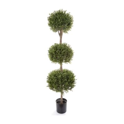 Potted Artificial Lavender Ball Topiary, 150cm