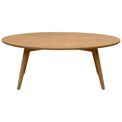 Molton Hand Crafted Mango Wood Oval Coffee Table, 120cm
