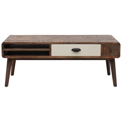 Axminster Hand Crafted Mango Wood Timber Coffee Table, 115cm