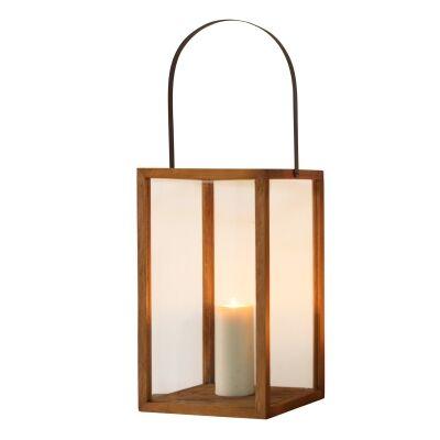 Pollard Glass & Wood Lantern, Large