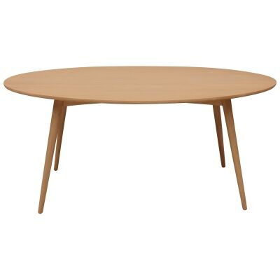 Molton Hand Crafted Mango Wood Oval Dining Table, 180cm