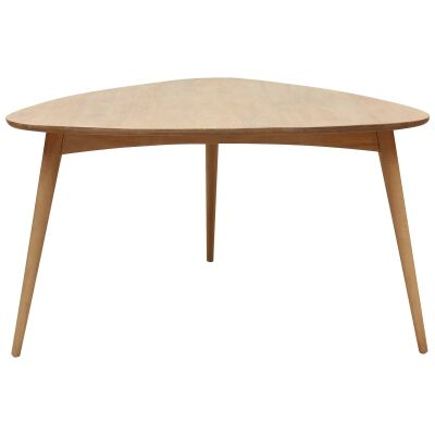 Molton Hand Crafted Mango Wood Triangle Dining Table, 136cm